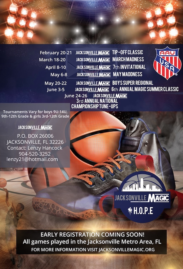 WELCOME TO THE JACKSONVILLE MAGIC AAU BASKETBALL ASSOCIATION
